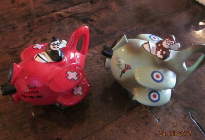Carlton Ware Teapots Ww1 Battle For Britain Spitfire Lucy May And The Red Barron
