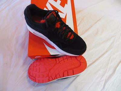 Woman's Nike Air Max 1 Prm Sz 9.5 Black/action Red-Smt (454746 010) Ret $130Nib