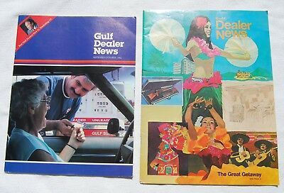 Vintage Gulf Oil and Gas Dealer News Magazine Lot of (2)
