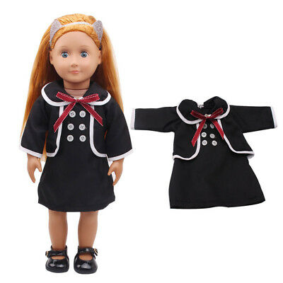 "Clothes For 18"" American Girl Our Generation My Life Doll Black School Dress"