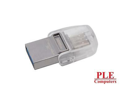 Kingston DataTraveler MicroDuo 3C USB Type-A & C USB 128GB 3.0 Flash Drive[DT..
