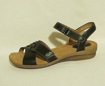 1101f57f4d78 Clarks Artisan Reid Laguna Black Genuine Leather Sandals Ladies UK Size 4.5  D