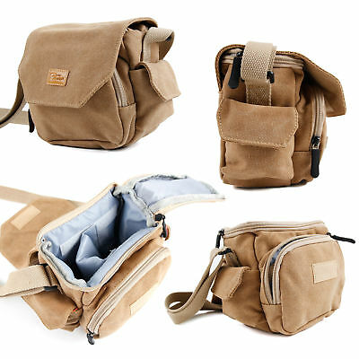 Light Brown Canvas Bag With Pockets for Hutact Wide-field Binoculars - 10X42