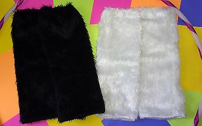 RAVE FLUFFIES - Dance Leg Warmers - Faux Fur - US SHIPPING- PLUR EDM PARTY FURRY