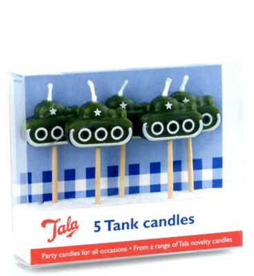 Tala Birthday Cake Candles 5 Tank Design