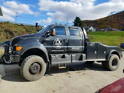 2000 Ford F Series  2000 Ford F650 4x4 Black Cat Diesel Ranch Hauler Tool Body RARE