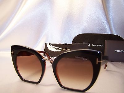 1 Day Sale New Tom Ford SAMANTHA-02 TF 553  05U shiny black  Sunglasses w case