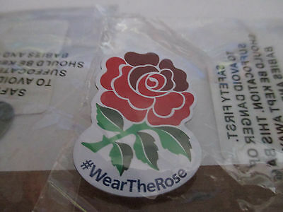 England Rugby Union Badge. - Wear the Rose. - Rugby Pin Badge.