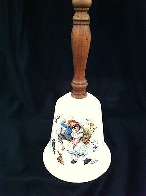 Vintage 1975 Norman Rockwell Love's Harmony Gorham Fine China Bell