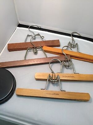 Lot of 5 Vtg Wooden Pants/Skirts Clamp Hangers Winston 2, unmarked 3