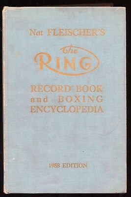 Orig. 1958 The Ring Record Book & Boxing Encyclopedia Boxsport