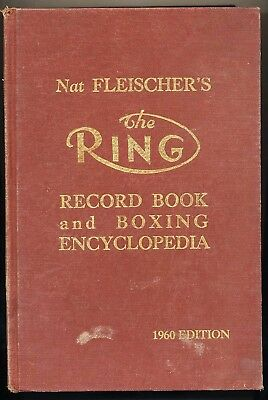 Orig. 1960 The Ring Record Book & Boxing Encyclopedia Boxsport
