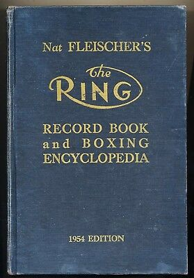 Orig. 1954 The Ring Record Book & Boxing Encyclopedia Boxsport