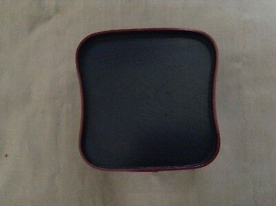 6 Trays Total - Japanese Black Plastic Stackable Mini Square Size Serving Tray