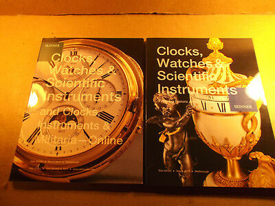 2 Skinner Auction Catalog, Guns, Clocks, Watches, Scientific Instruments, Camera