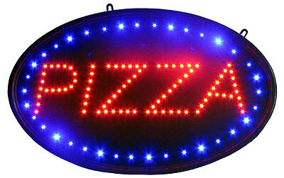 "Oval Pizza Sign LED Neon Light 13"" x 24"" Business Advertising Tracers"