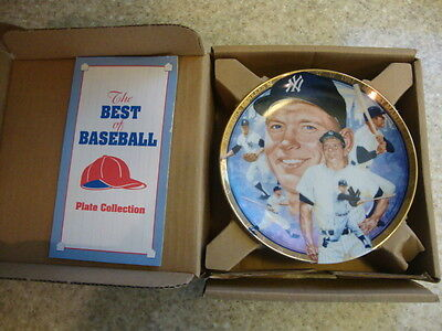 Mickey Mantle Best of Baseball Collectors Plate Comes w/Stand LIMITED EDITION