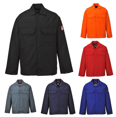 Bizweld Flame Resistant Safety Workwear Jacket Navy Small sUw