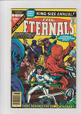 Eternals King Size annual #1 F 1977 Marvel comic