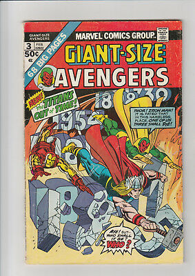 Giant Size Avengers #3 G 1974 Marvel comic
