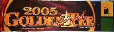 "Golden Tee Fore 2005 Arcade Marquee 26""x6.9"""
