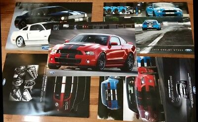 Rare Ford Mustang 2007 2013 2014 Shelby Poster Set 5 Total! Boss Svo Mach Gt 5.0