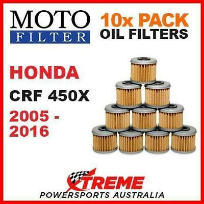 10 Pack Moto Mx Dirt Bike Oil Filters Honda Crf450X Crf 450X 2005-2016 Motocross