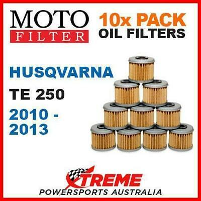 10 Pack Moto Mx Dirt Bike Oil Filters Husqvarna Te250 Te 250 2010-2013 Enduro