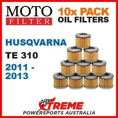 10 Pack Moto Mx Dirt Bike Oil Filters Husqvarna Te310 Te 310 2011-2013 Enduro