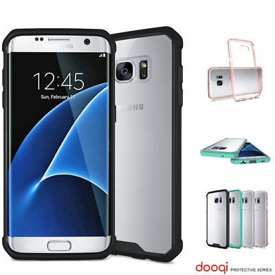 Dooqi For Samsung Galaxy S7 Edge Soft TPU Shockproof Bumper Clear Case Cover