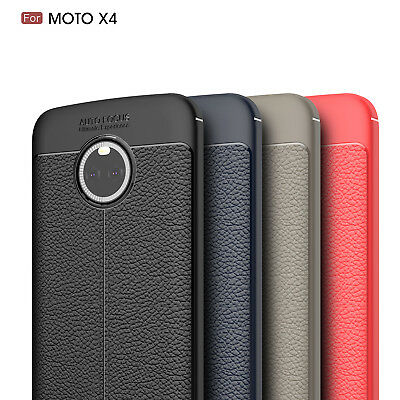 Ultra Thin Luxury PU Leather Soft TPU Shockproof Case Cover For Motorola Moto X4
