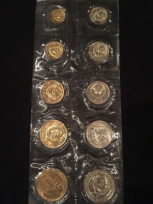 Russia Soviet Union 9 Piece Mint Set 1973 With Medal Sealed