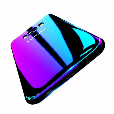 For Samsung Galaxy S8 S9 Plus Note 8 Aurora Gradient Color Transparent Slim Case