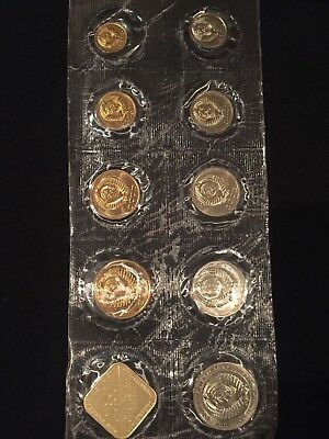 Russia Soviet Union 9 Piece Mint Set 1985 With Medal Sealed