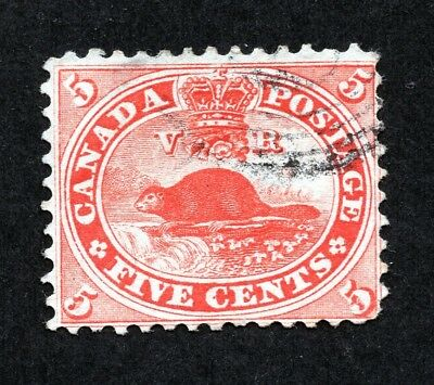 Canada #15 5 Cent Vermilion Beaver First Cents Used
