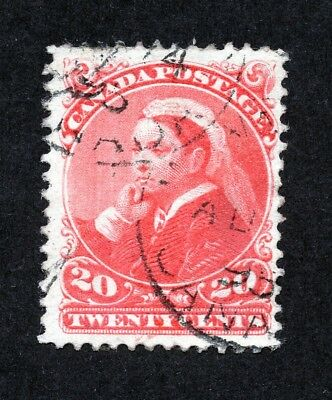 Canada #46 20 Cent Vermilion Widow Weed Issue Used
