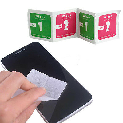 400x Camera Lens LCD Screen Dust Removal Dry Wet Cleaning Cloth Wipes WL