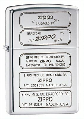 Zippo Bottom Stamp Pocket Lighter, High Polish Chrome 28381