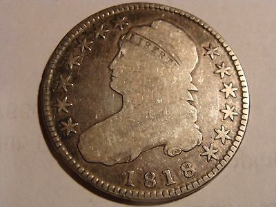 1818 Capped Bust Silver Half Dollar - Nice Early Coin!--MUST SEE!!
