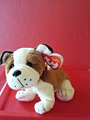 Ty Beanie Baby ~ HUGGINS the Dog ~ MINT with MINT TAGS ~  RETIRED