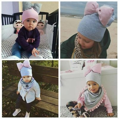 Charming Baby Toddler Knitted Crochet Beanie Winter Warm Bow Hat Cap Sweet Gifts