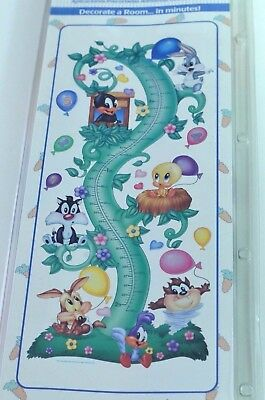 NEW VTG Baby Looney Tunes Measure Me Growth Chart Wall Hanging Height Decor