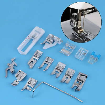 14Pc Domestic Metal Presser Foot Set for Household Multi-function Sewing Machine