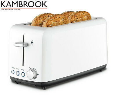 Kambrook KTA140 4-Slice Long Slot Toaster - White