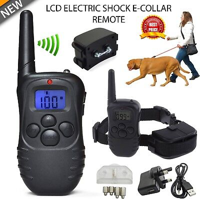 Anti-Bark Electric Shock Dog Collar For Pet Training Remote Control Rechargeable