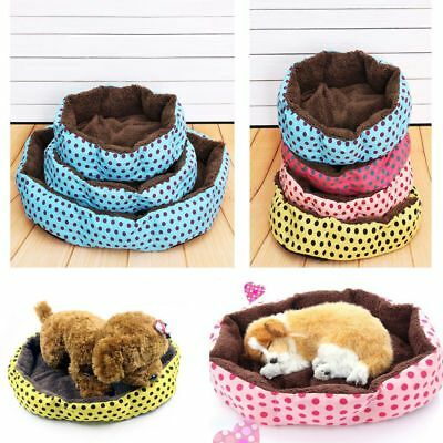 Pet Dog Cat Bed House Cushion Nest Mat Kennel Blanket Winter Warm Soft Fleece