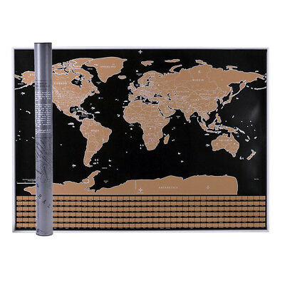 59.5*82.5cm Large Scratch Off World Map Poster Personalized Travel Vacation Log