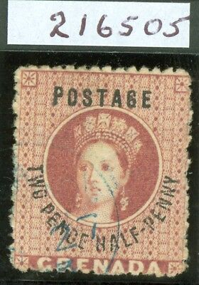 SG 22c Grenada 1881 2½d rose lake variety. No stop after penny. Very fine used..