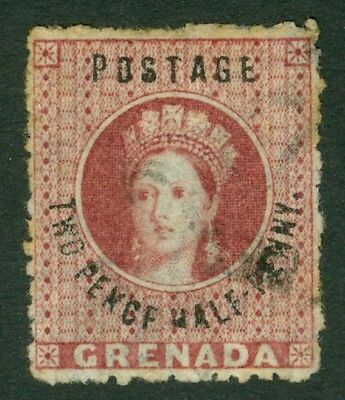 SG 22d Grenada 1881 2½d rose lake 'pence' variety. Very fine used CAT £180
