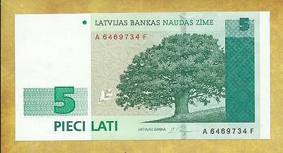 LATVIA 5 Lati 1996 Series AF P-49a Unc Currency Banknote ***USA SELLER***